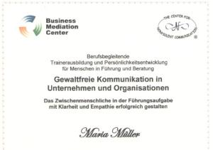 Zertifikat GfK Trainerausbildung